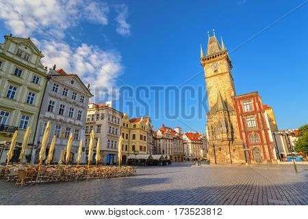 Prague old town square and Clock Tower, Prague, Czech Republic
