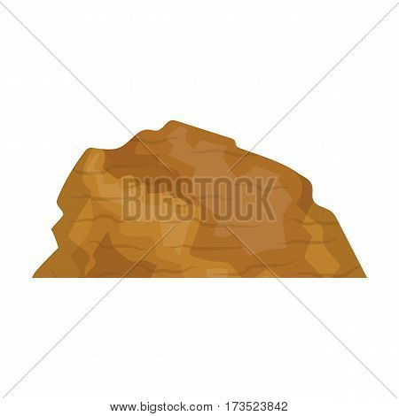 Sandy ceremony in wild west . Mountains of sand.Mountains in the desert. Different mountains single icon in cartoon style vector symbol stock web illustration.