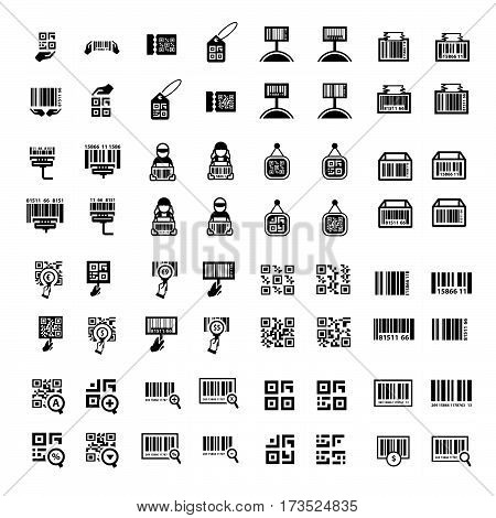 Barcode And Qr Code Vector Set 64 Item