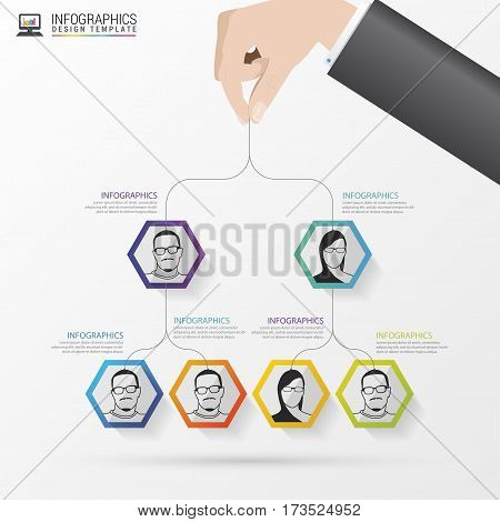 Business structure. Organisation chart. Infographic design. Vector illustration