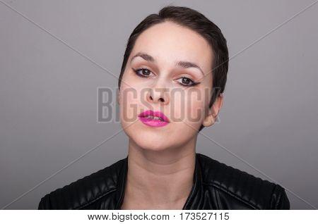Portrait Of Beautiful Punk Girl