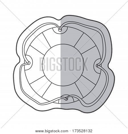 sticker sketch contour flotation hoop with rope vector illustration