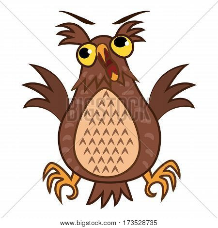Set Vector Illustrations isolated character cartoon joy owl emoticons for site, info graphics, reports, comics