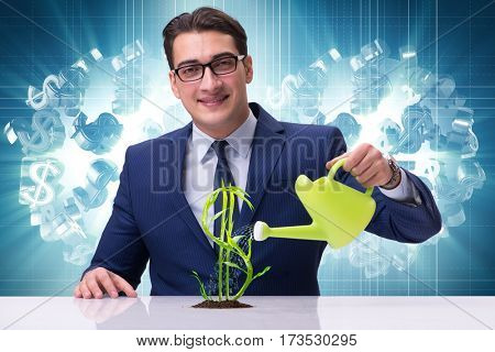 Businessman in new business concept
