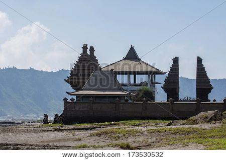Hindu temple at Bromo Mountain, Tengger Semeru national park, East Java, Indonesia
