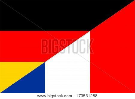 germany france neighbour countries half flag symbol