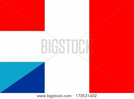 luxembourg france neighbour countries half flag symbol