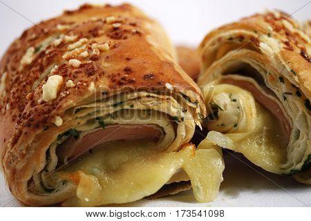 cheese and ham breadboard food  Oregano  breakfast