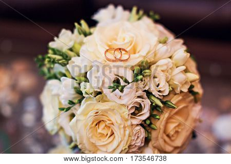 Wedding flowers and beautiful shoes decoration beauty wedding bride