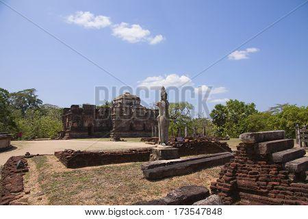 Thuparama view Polonnaruwa or Pulattipura ancient city of the Kingdom of Polonnaruwa in Sri Lanka