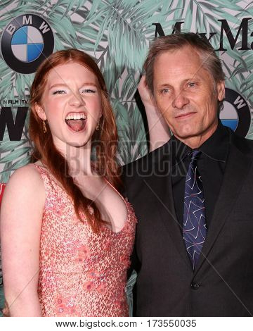 LOS ANGELES - FEB 24:  Annalise Basso, Viggo Mortensen at the 10th Annual Women in Film Pre-Oscar Cocktail Party at Nightingale Plaza on February 24, 2017 in Los Angeles, CA