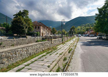 On The Street In Sheki. Azerbaijan