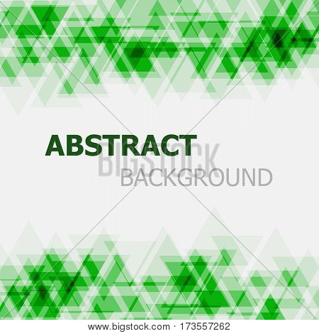 Abstract green triangle overlapping background, stock vector