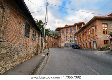 On The Street In Sheki. Azerbaijan