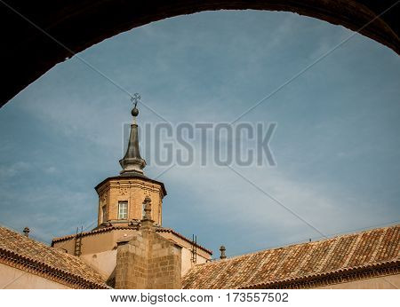 Church tower in the medieval town of  Toledo Spain