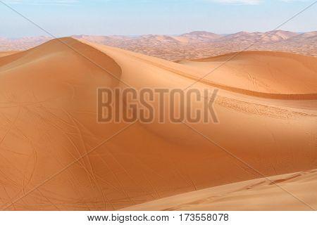Erg Chebbi Sand Dunes Near Merzouga, Morocco