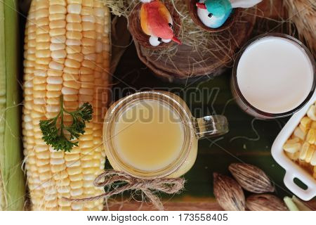 Corn milk for health and fresh corn