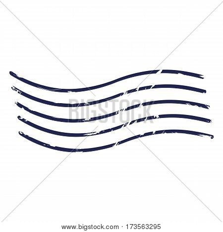Vector Abstract Dark Blue Postal Stamp