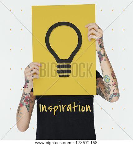 Inspiration Fresh Ideas Imagination Bulb Sign