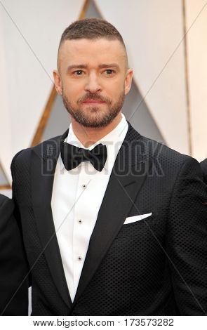 Justin Timberlake at the 89th Annual Academy Awards held at the Hollywood and Highland Center in Hollywood, USA on February 26, 2017.