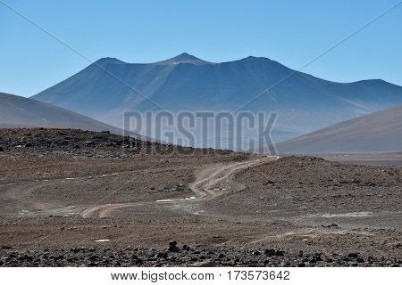 Altiplano volcanic desert in Bolivia South America