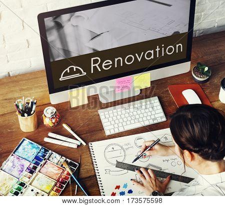 Architecture Renovation Style Design Graphic