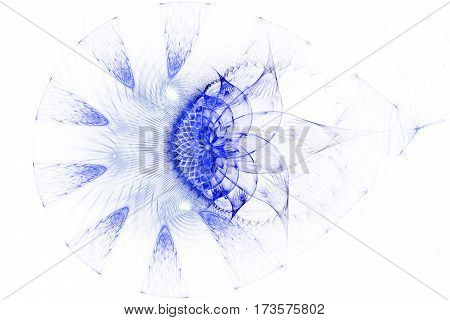 Microorganism under microscope. Vacuole. Drop. 3D surreal illustration. Sacred geometry. Mysterious psychedelic relaxation pattern. Fractal abstract texture. Digital artwork graphic astrology magic