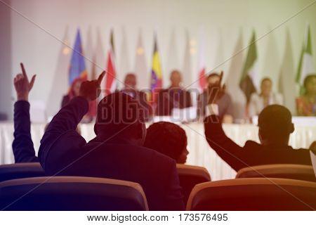 Diversity International People Raise Hands Agreement Collaboration