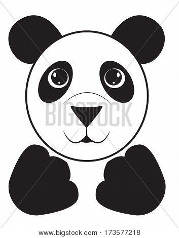 Cartoon portrait of a cute panda. Vector illustration
