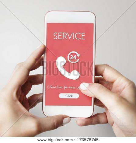 Call Center Service Information Concept