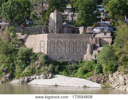MANDI, INDIA. 4 Jun 2009:  Ancient Temple in North India - Trilokinath Temple. Mandi, Himachal Pradesh, India