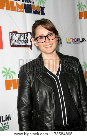 SaraLee Steiner arrives at the 2017 San Diego Film Week Closing Reception and Film Awards at T-Short Galleries in San Diego, CA on Feb. 25, 2017.
