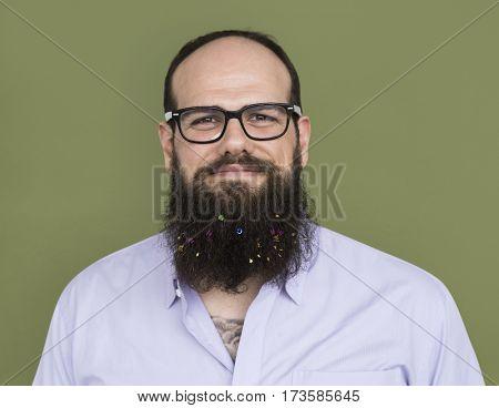 Caucasian Man Happy Smiling Shoot