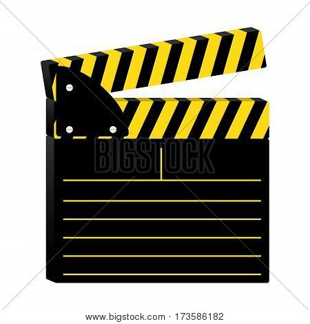 colorful silhouette with clapperboard cinema vector illustration