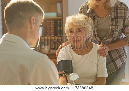 Worried Senior Patient
