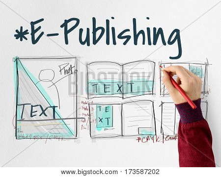 E-book layout design draft graphic