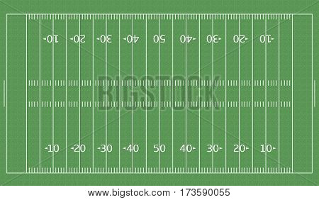 American Football green field with white line markup