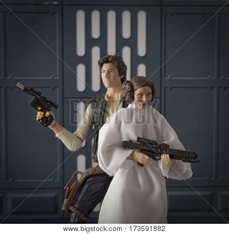 Star Wars Han Solo and Princess Leia  - Hasbro 6 inch Black Series action figures