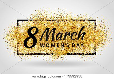 8 march eighth womens day. Pink glitter. Red background for flyer poster, sign, banner, web header. Abstract shine blur invitation, greeting card, poster, flyer, event logo, logotype, sign symbol