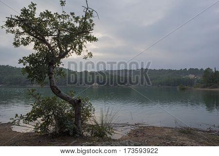 The Sichar reservoir in Castellón in Spain