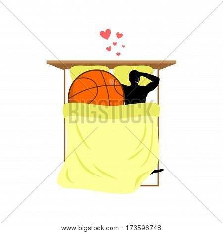 Lover Basketball. Guy And Ball In Bed. Lovers In Bedroom. Romantic Date. Love Sport Play Game