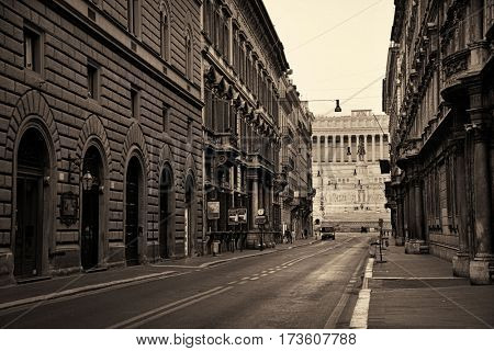 Street view in Rome, Italy.