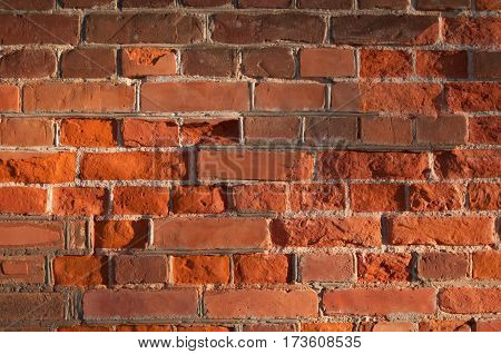 Background of brick wall texture in Belarus