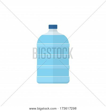 Big bottle waterfor cooler in flat style isolated on whitebackground. Vector illustration