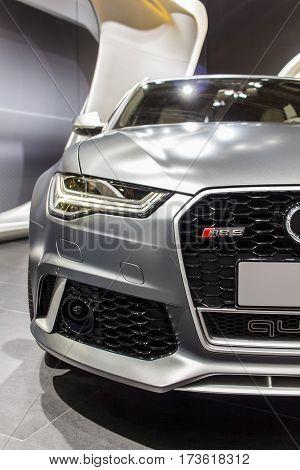 BARCELONA, SPAIN - MAY 2015: Audi RS6 Front Shot