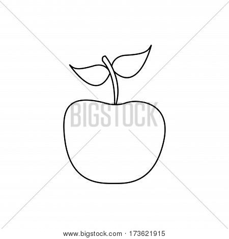 figure apple fruit icon stock, vector illustration desing