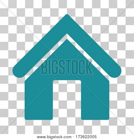 Home vector pictograph. Illustration style is flat iconic soft blue symbol on a transparent background.
