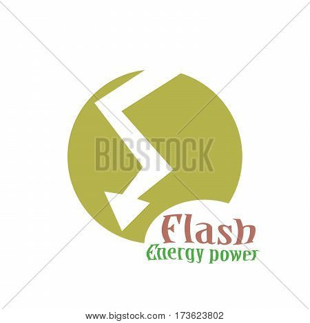 Lighting Bolt Flash Logo Design Template. Fast Quick Rapid Icon Concept Symbol. Thunderbolt Logotype