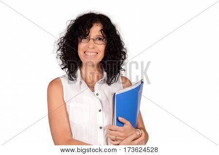 School Teacher Holding Books.