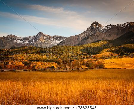 Autumn colors create a unique scenic beauty in the Rocky Mountains of Colorado.